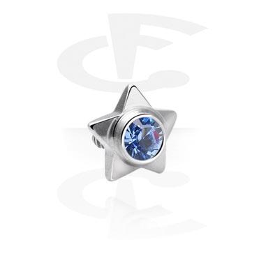 Boules et Accessoires, Steel Jeweled Star, Acier chirurgical 316L