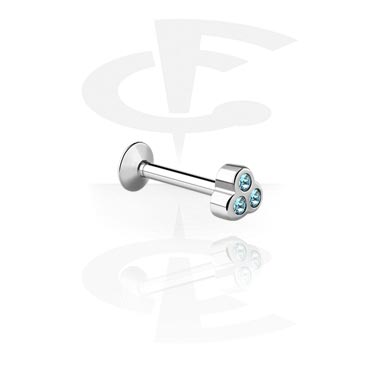 Internally Threaded Micro Labret con Jeweled Steel Cast Attach