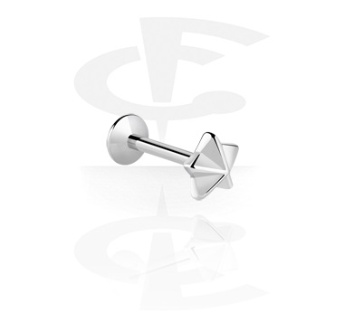 Labrety, Internally Threaded Micro Labret with Steel Cast Attachment, Surgical Steel 316L