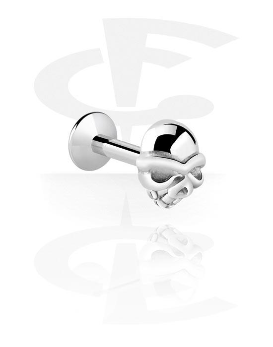 Labrety, Internally Threaded Labret s skull attachment, Chirurgická ocel 316L