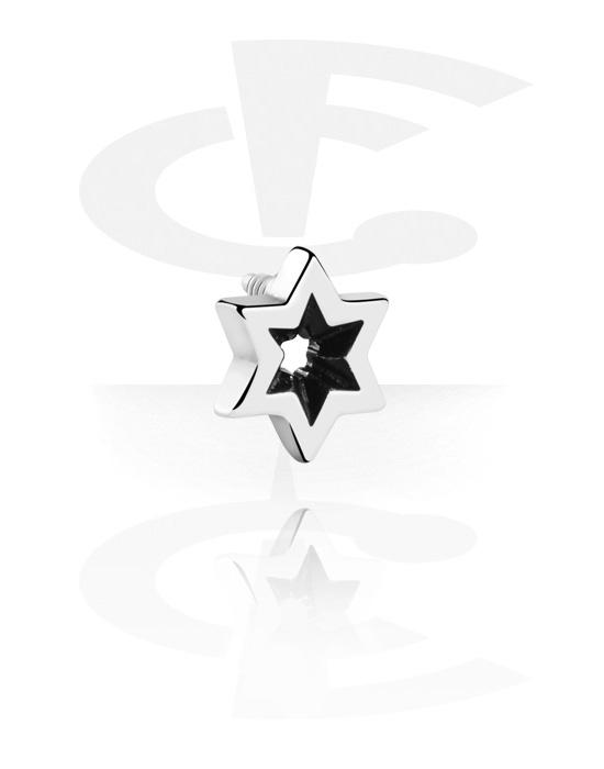 Kuglice, šipkice i još mnogo toga, Attachment for 1.2mm Internally Threaded Pins s star design, Kirurški čelik 316L