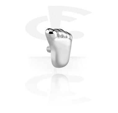 Boules et Accessoires, Accessoire pour barres de 1,2 mm à filetage interne, Acier chirurgical 316L