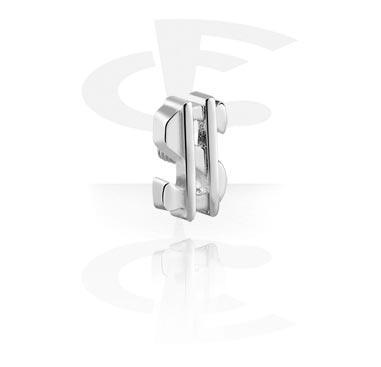 Accessoire voor staafjes van 1,3 mm met interne schroefdraad
