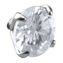 Boules et Accessoires, Accessoire pour barres de 1.6mm à filetage interne , Acier chirurgical 316L