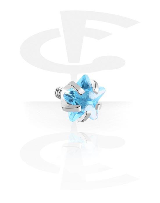 Kuličky, kolíčky a další, Attachment for Internally Threaded Pins  a crystal stone, Chirurgická ocel 316L