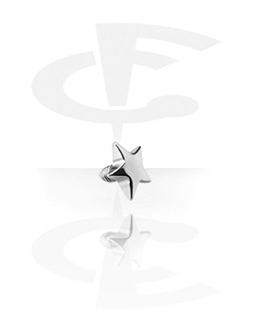 Boules et Accessoires, Star pour Internally Threaded Pins, Acier chirurgical 316L