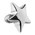 Pallot ja koristeet, Star for Internally Threaded Pins, Surgical Steel 316L