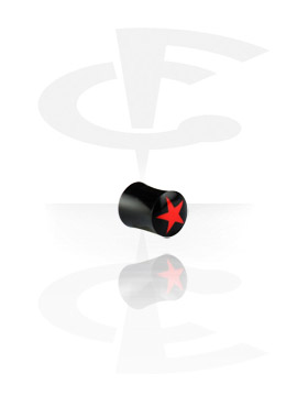 Inlaid Tribal Plug (Red Star)
