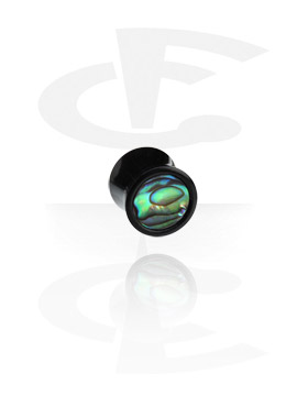 Inlaid Tribal Plug (Paua Shell)
