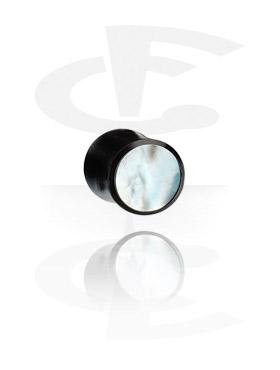 Tunele & plugi, Inlaid Tribal Plug (Mother of Pearl), Organic Materials