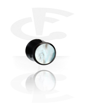 Tunnelit & plugit, Inlaid Tribal Plug (Mother of Pearl), Organic Materials