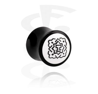 Double Flared Plug met handgeschilderd Design