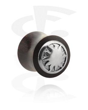 Double Flared Plug met metaal-accessoire