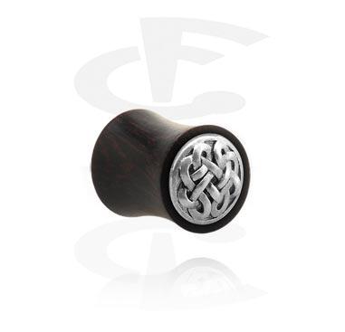 Double flared plug avec accessoire métallique