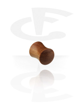 Flared plug en bois