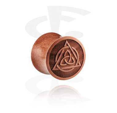 Tunely & plugy, Double Flared Plug s Laser Engraving, cherry wood