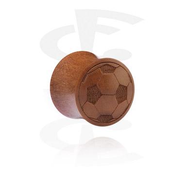 Tunele & plugi, Double Flared Plug z Laser Engraving, cherry wood