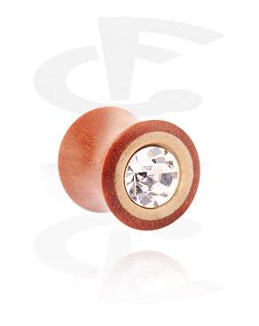 Jewelled Double Flared Plug