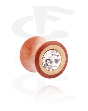 Double Flared Plug met steentje