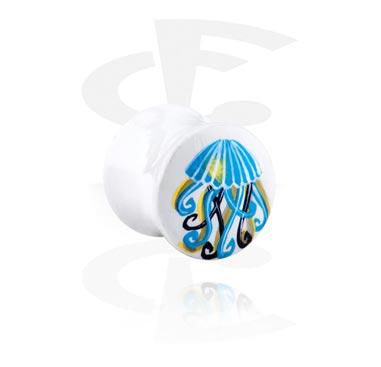 Handbeschilderde Flared Plug