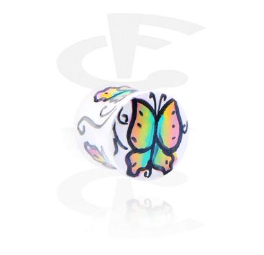 Flared plug peint à la main