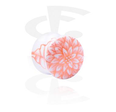 Käsinmaalattu flared-plugi