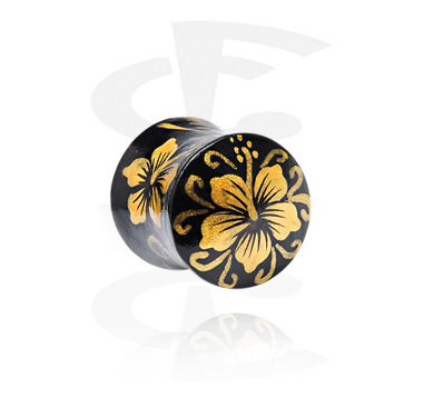 Hand painted Flared Plug
