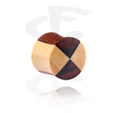 Tunnels & Plugs, Double Flared Plug, Hout