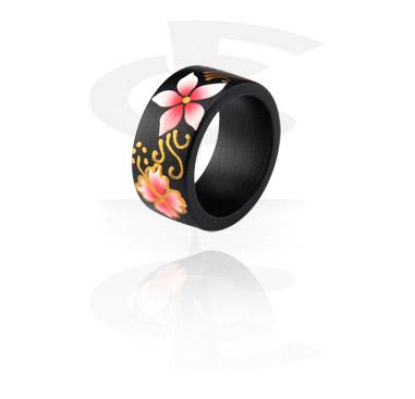 Ringar, Painted Ring, Wood