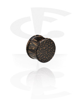 Ribbed Wood Plug (Palm Wood)