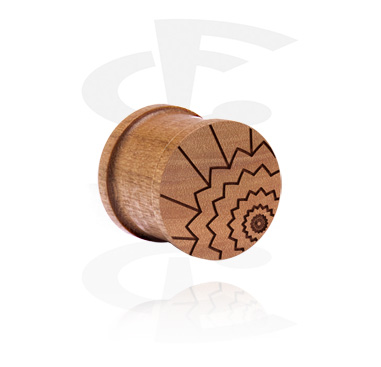 Ribbed Plug with laser engraving