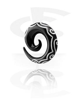 Inlaid Horn Spiral (Swirls)