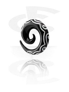 Inlaid Horn Spiral (Swirls)
