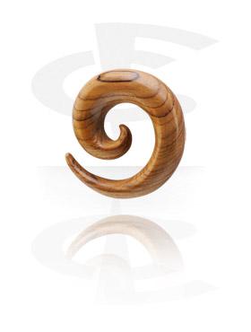 Spirale en bois pour étirement du lobe