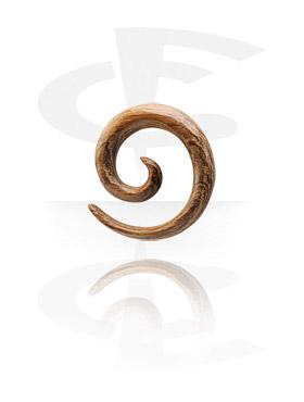Accessoires pour étirer, Spirale en bois pour étirement du lobe, Teak
