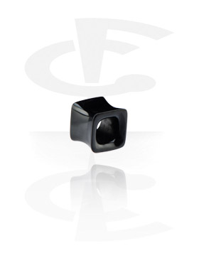 Tunnels & Plugs, Square Flared Plug, Horn