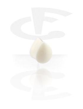 Tuneli & čepovi, Tear-Shaped Flared Plug, Bone Powder
