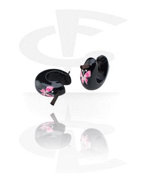 Boucles d'Oreilles, Boucles d'oreilles peintes à la main, Bois