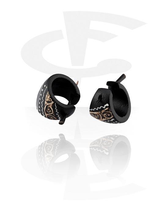 Naušnice, Earrings, Drvo
