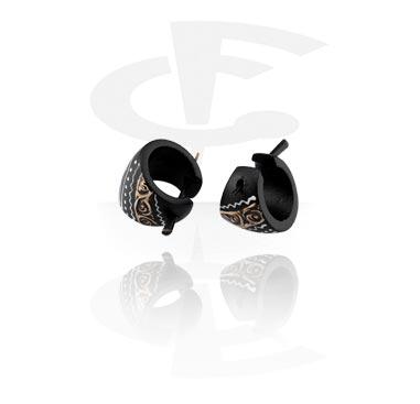 Boucles d'Oreilles, Boucles d'oreilles, Bois