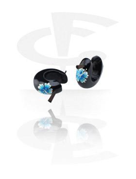 Boucles d'Oreilles, Boucles d'oreilles peintes à la main, Bois de teck