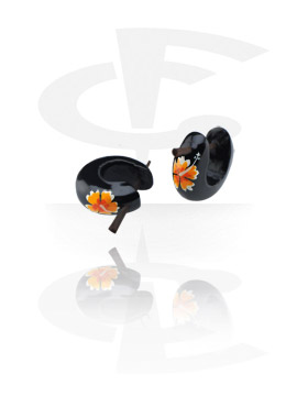 Painted Flower Tribal Earrings