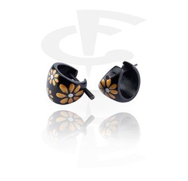 Earrings, Studs & Shields, Handpainted Earrings, Wood