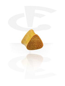 Tunnelit & plugit, Triangular Flared Wood Plug, Jackfruit