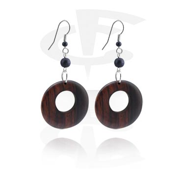 Korvakorut, Earrings, Surgical Steel 316L, Wood