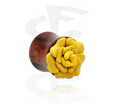 Double Flared Plug avec accessoire de fleur