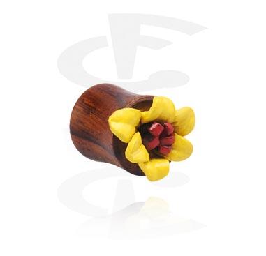 Double flared-plugi, jossa kukkakoriste
