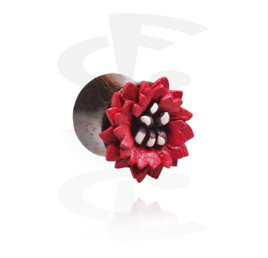 Double Flared Plug with Flower Attachment