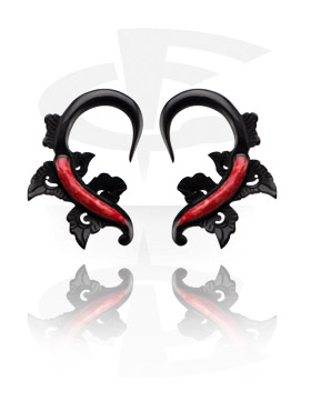 Claw Earring with Coral Inlay