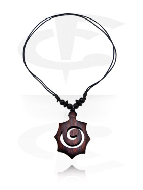 Ogrlice, Necklace with Pendant, Wood